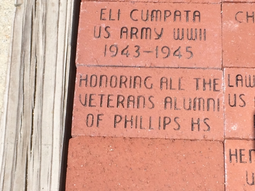 A VETERANS' MEMORIAL BRICK  PLACED AT EDGECOMBE  VETERANS' MUSEUM IN TARBORO, NC  'HONORING ALL THE VETERANS/ALUMNI O